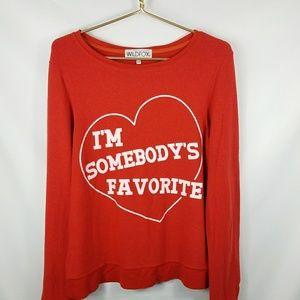 Wildfox I'm Somebody's Favorite Red Sweatshirt